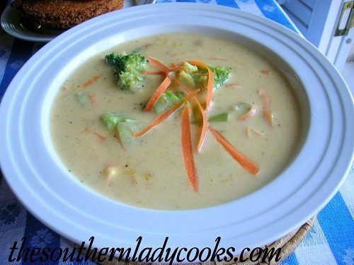 Broccoli Cheese Soup - TSLC