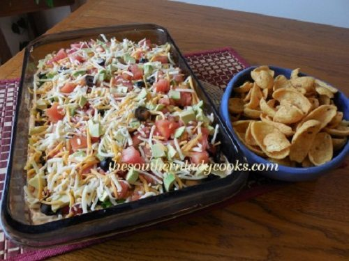 The Southern Lady Cooks – LAYERED TACO DIP