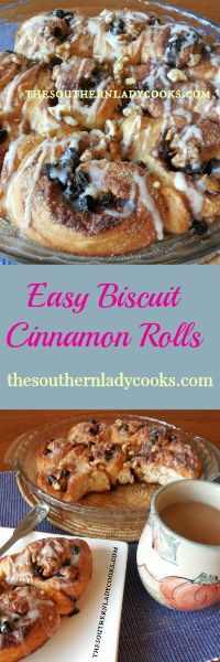 The Southern Lady Cooks Biscuit Cinnamon Rolls