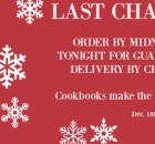 LAST CHANCE FOR CHRISTMAS DELIVERY