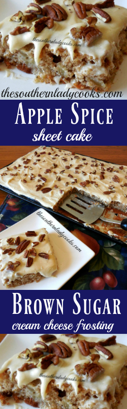 the-southern-lady-cooks-apple-spice-sheet-cake-brown-sugar-cream-cheese-frosting