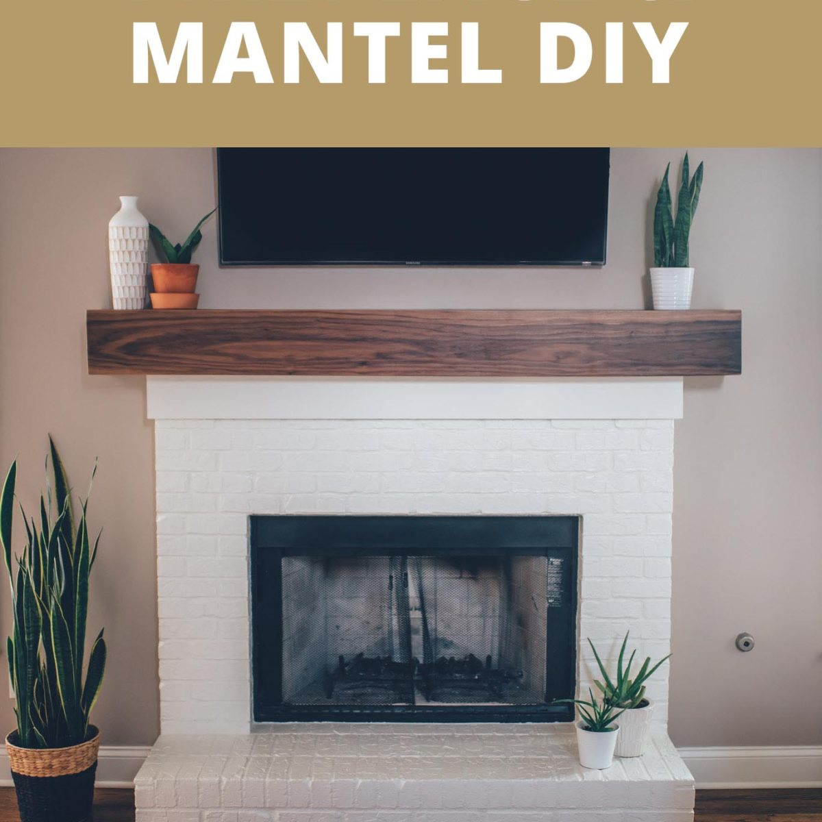 Mantel Kits For Brick Fireplace Modern White Brick Fireplace And Walnut Mantel Diy The