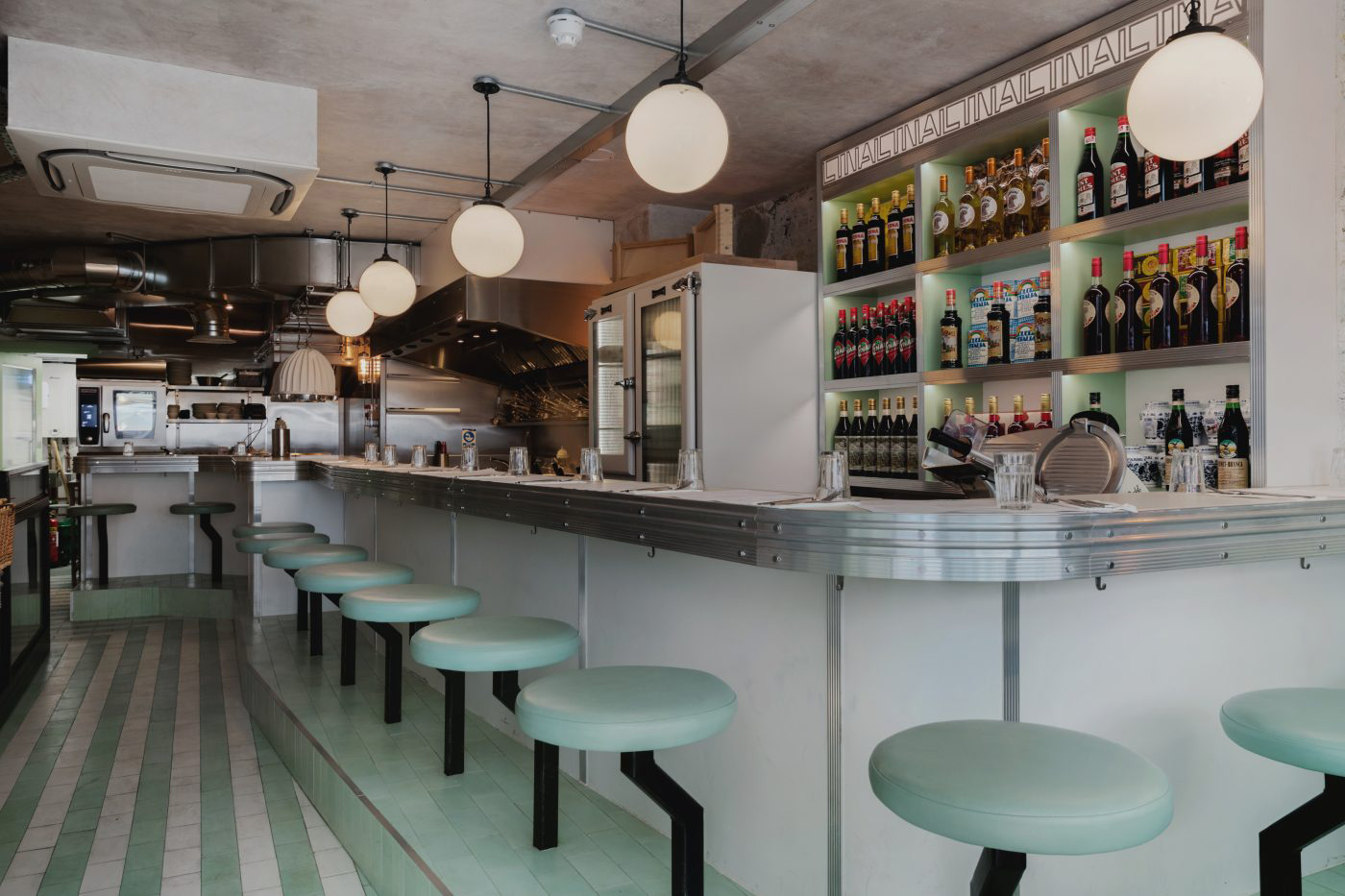 Resturant Stores Lina Stores New Pasta Bar Channels Art Deco In London S Soho