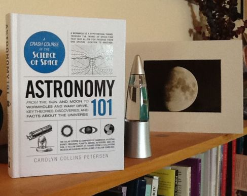 Astronomy 101 on my bookshelf. Put on on yours, too!  Image by Carolyn Collins Petersen.