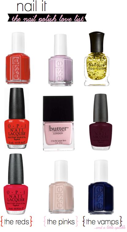 nail polish love list