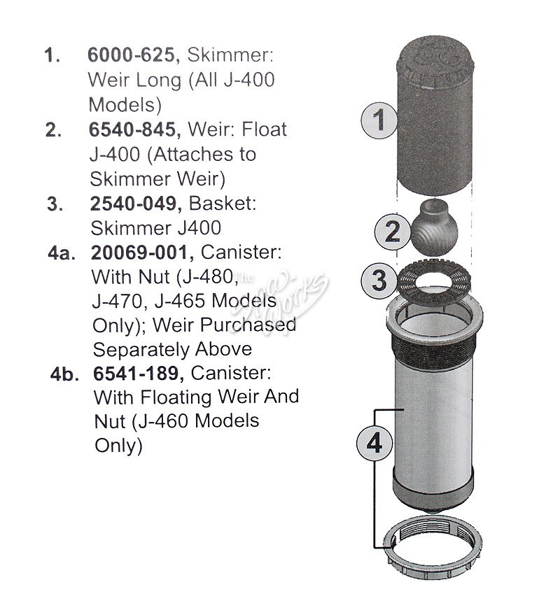 Jacuzzi Pool Pump Parts Diagram Jacuzzi Spa Skimmer Assembly, J-480, J-470, J-465