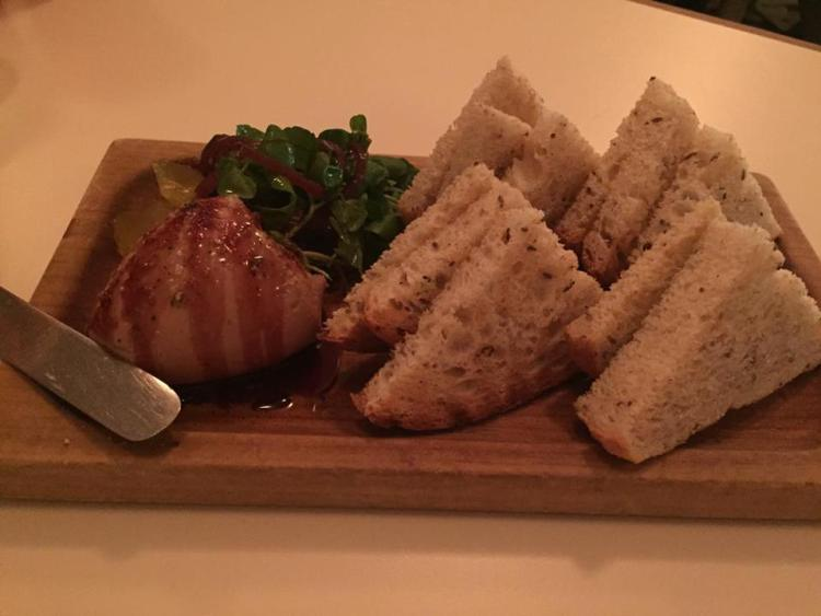 Duck Liver Parfait with Pickle Juice Jelly, Cress & Rye Toast ($14.50)