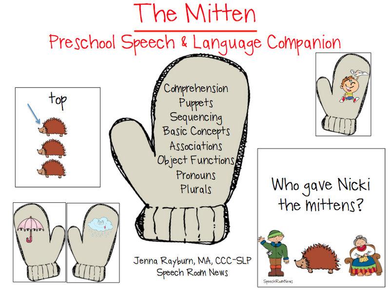 The Mitten Preschool Unit Speech Room News