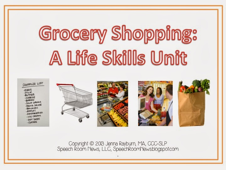 Grocery Shopping Life Skills Unit - Speech Room News
