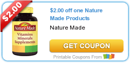 $2/1 Nature Made, $.50/1 New York Bakery & More Coupons