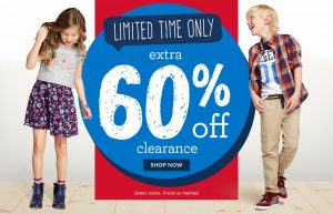 Gymboree – Extra 60% Off Clearance – Tees from $2.80
