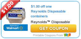 Reynolds Disposable Containers & Velveeta Coupons
