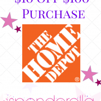 Home Depot – $10 off $100 Purchase Promo Code