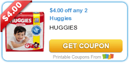 $4/2 Huggies Diapers, Eight O'Clock Coffee & More Coupons