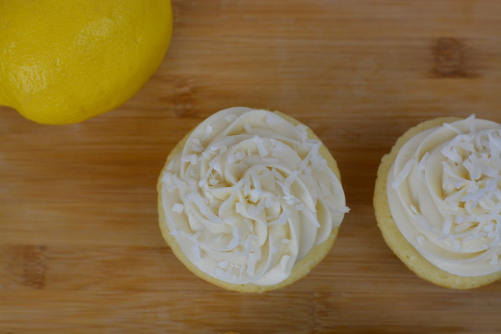 Coconut Lemon Cupcakes with Cream Cheese Frosting - The Spicy Ginger