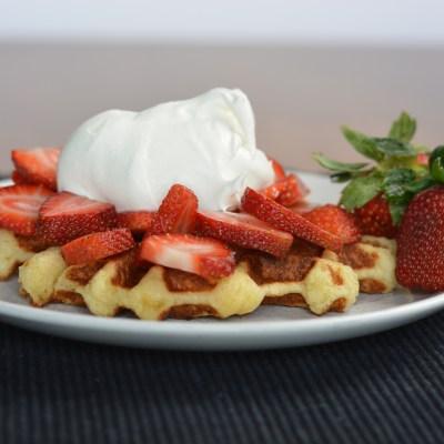Easy Belgian (Liège) Waffles