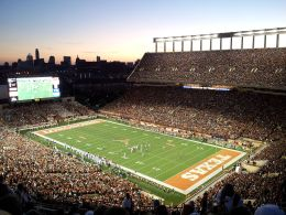 Darrell K Royal–Texas Memorial Stadium, where Texas plays its home games. By Brint03 - Own work, CC BY-SA 3.0, https://commons.wikimedia.org/w/index.php?curid=26178826