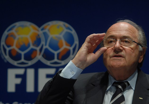 Sepp Blatter at the announcement of the 2014 FIFA World Cup host event in 2007.  Photo By Marcello Casal Jr. / ABr - Agência Brasil (Secretaria de Imprensa e Divulgação), CC BY 3.0 br, https://commons.wikimedia.org/w/index.php?curid=3006374