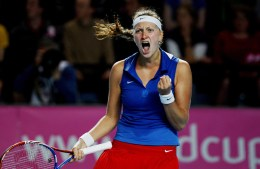 Petra Kvitova in the final match of the 2011 Fed Cup World Group. By Pavel Lebeda / Česká sportovní - Pavel Lebeda / Česká sportovní, CC BY-SA 3.0 cz, https://commons.wikimedia.org/w/index.php?curid=17735902