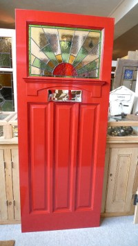 1930's Stained Glass Front Door Sunburst - Stained Glass ...