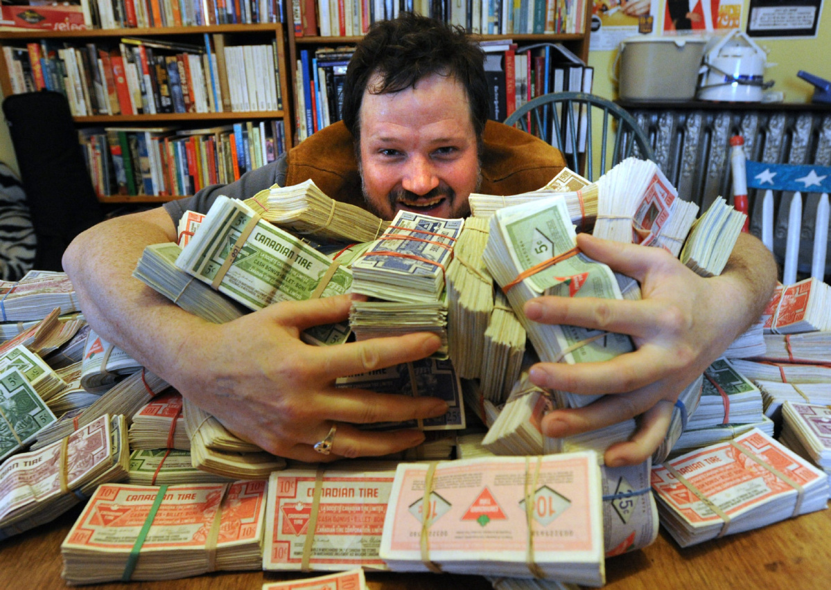 Canadian Tire Book Shelves Corin Raymond Paid For New Album With Stacks Of Canadian Tire