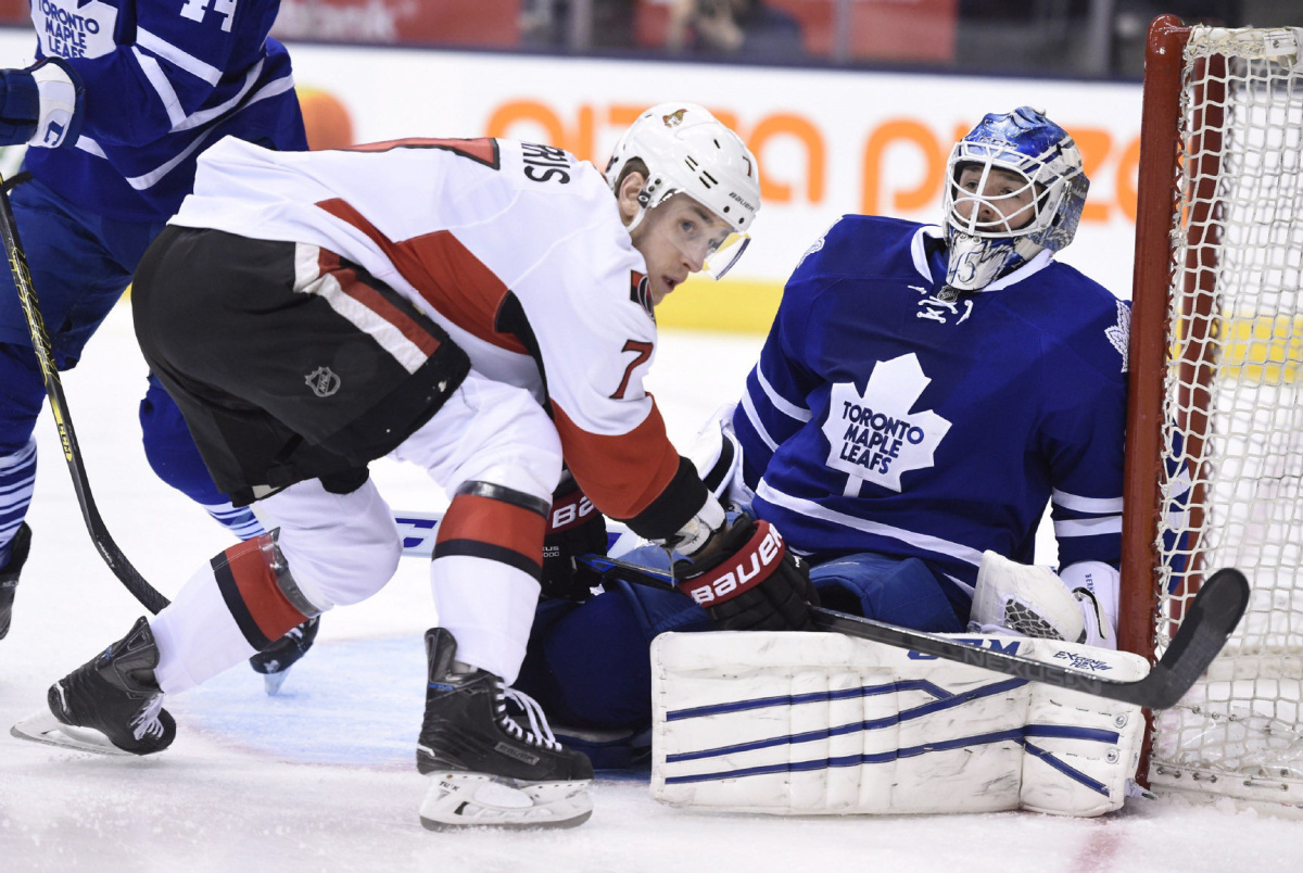 But Sens Maple Leafs Do Their Part To Mess Up Ottawa But Sens Still Alive