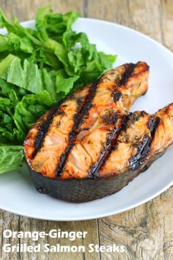 Piquant If You I Grill A I Love Me Some Grill I Live Insan Diego So I Am Fortunate Enough To Be Able To Grill Grilled Salmon Steaks Salmon Steak Recipe Skillet Salmon Steak Recipe Easy