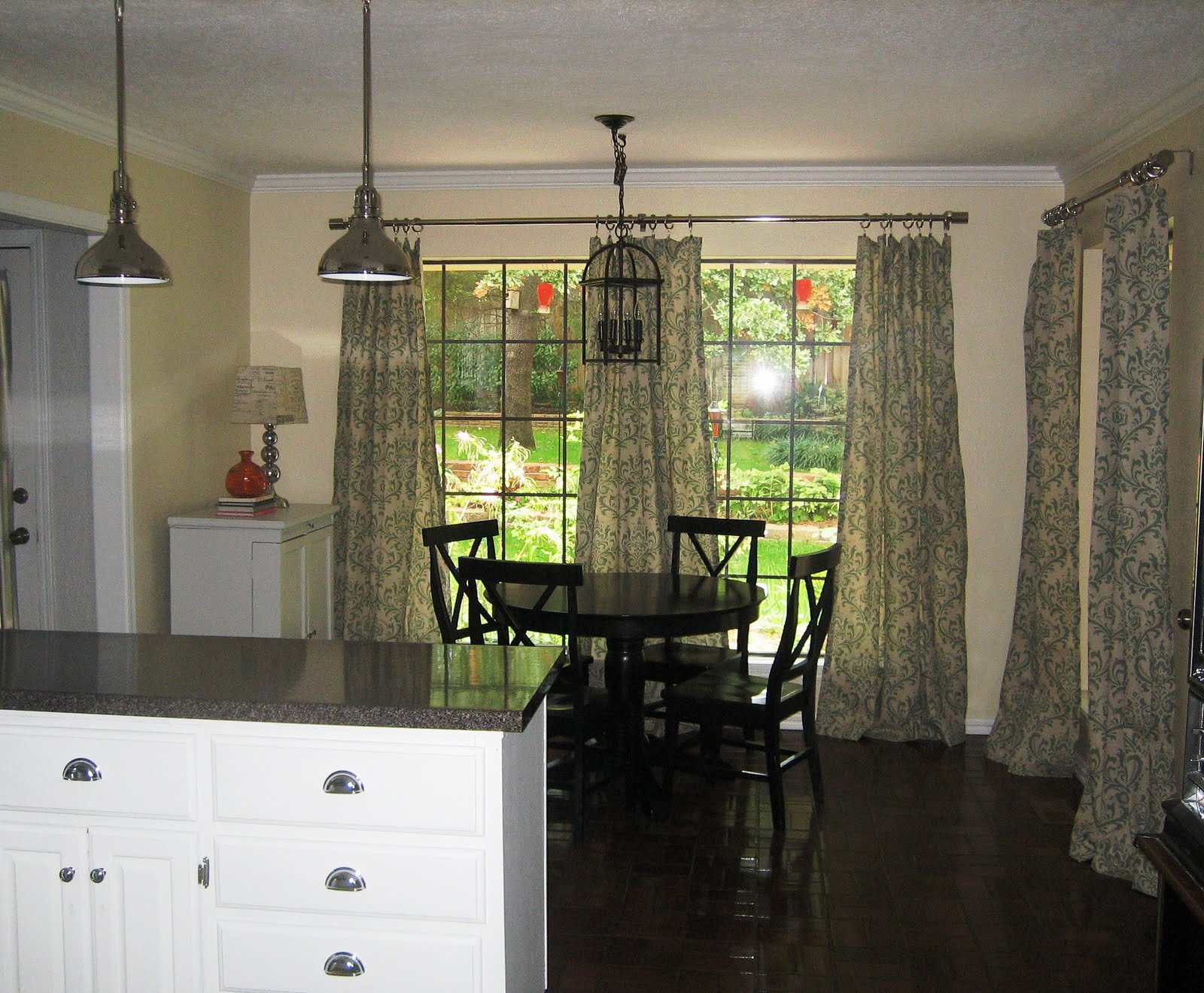 Breakfast Nook Curtains New House Before And After The Kitchen The Steen Style