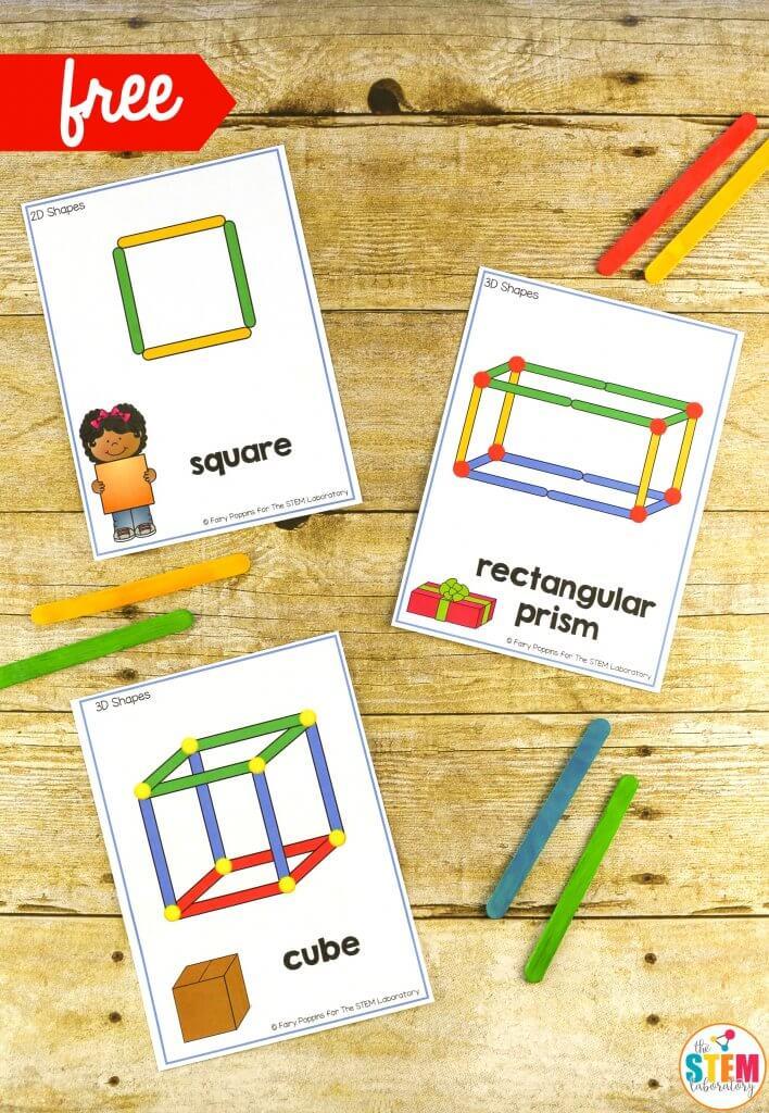Building Shapes STEM Cards - The Stem Laboratory
