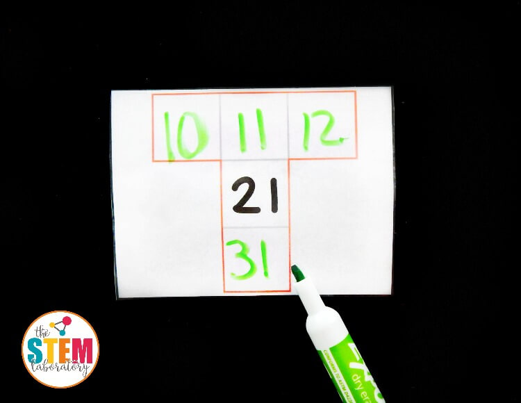 Hundreds Chart Missing Numbers Cards - The Stem Laboratory