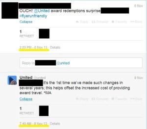 United Delayed Response to Tweet about Devaulation