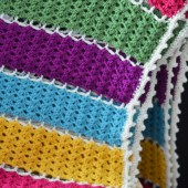 Jeweled Lattice Afghan - Free Pattern