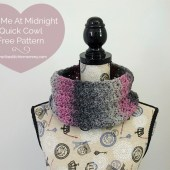 Kiss Me At Midnight Quick Cowl - Free Pattern