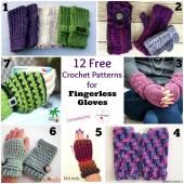 12 Free Crochet Patterns for Fingerless Gloves