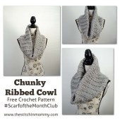 Chunky Ribbed Cowl - Free Crochet Pattern