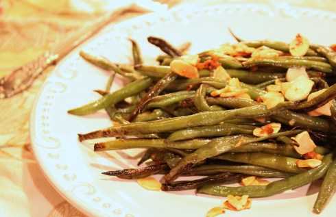 Roasted Green Beans by The Socked Pantry