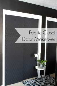 CLOSET DOOR MAKEOVER WITH FABRIC - The Striped House