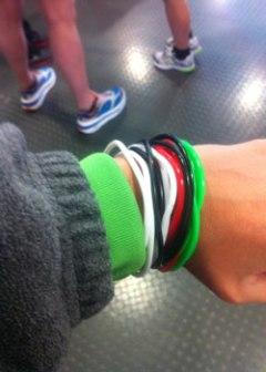 16 plastic bracelets