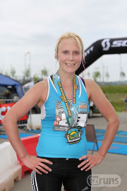 Me and my hefty medal - what a colour combo.