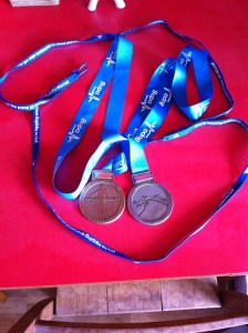 Double-trouble medal madness - love these pieces of bling