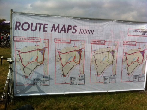 Map of the Classic route at the London Duathlon
