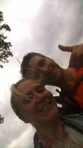 Marathon Man UK (Rob) and I in selfie mode - team trail