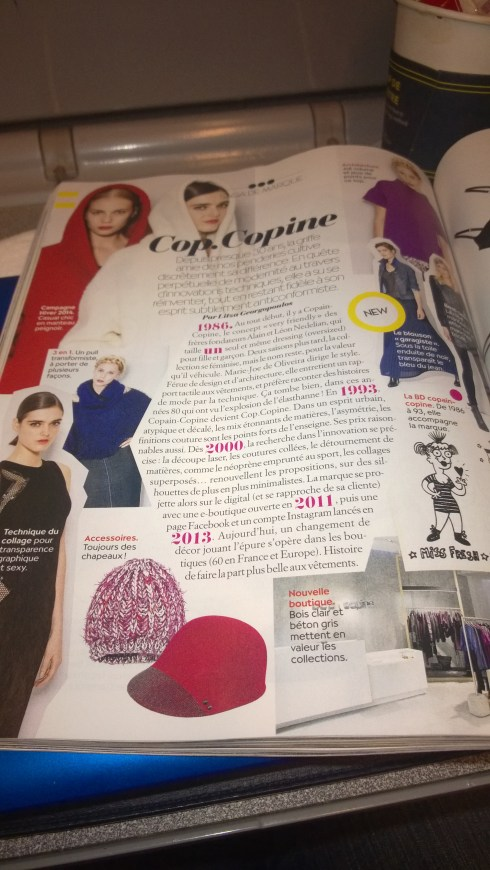 Cop Copine in Biba magazine