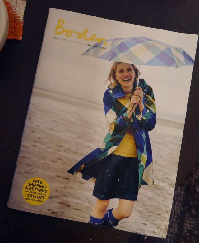 I finally open the Boden catalogue after repeated mailings.