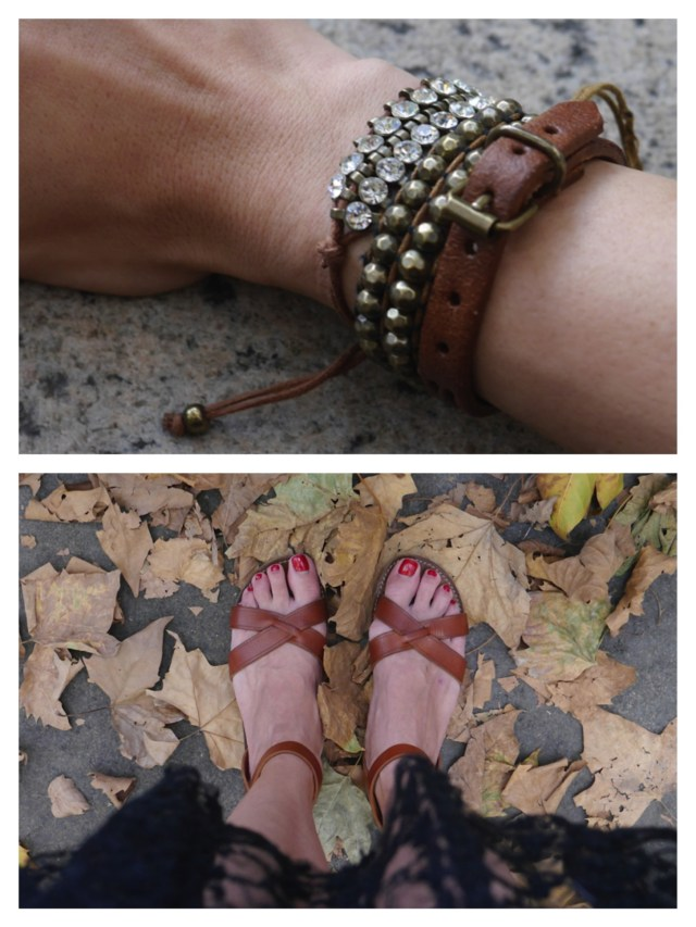 Top to Bottom: Bracelets: Target, Brandy Melville | Sandals: Isabel Marant (Consignment)