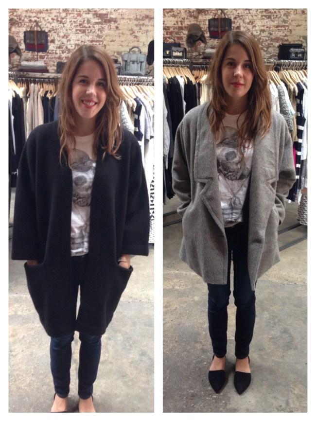 Left: Acne Coat at Bird   Right: Rachel Comey Coat at Bird