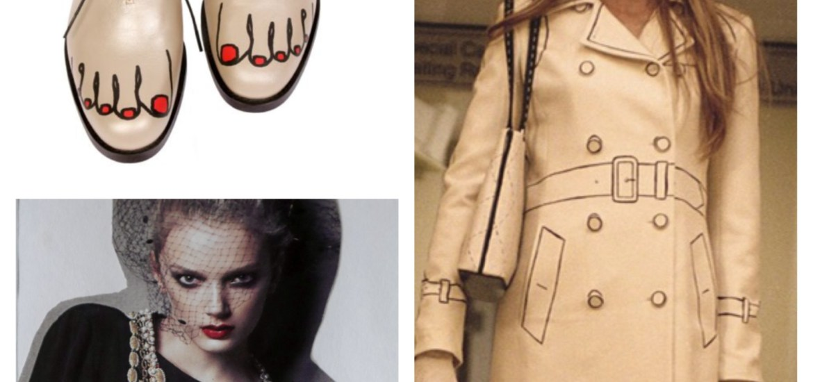 """Clockwise from Top Left: Comme Des Garcons """"Toes Brogues"""" 