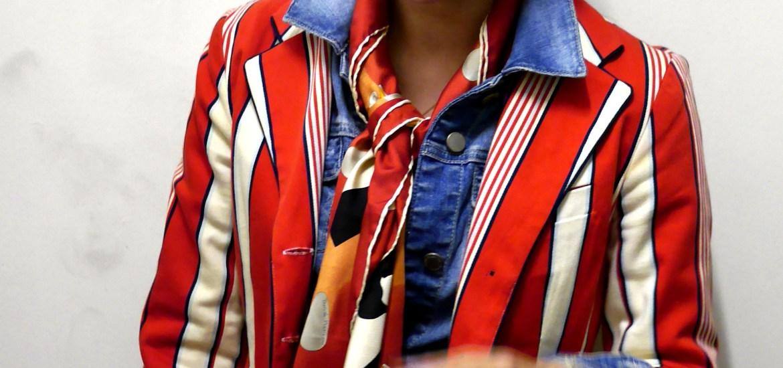 Striped Jacket: Luella Bartley x Target (circa 2006) | Denim Jacket: Zara | Scarf: Bvlgari (Consignment)