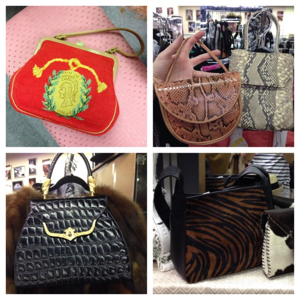 The vintage handbags at C. Madeline's are clearly inspiration for current designs.