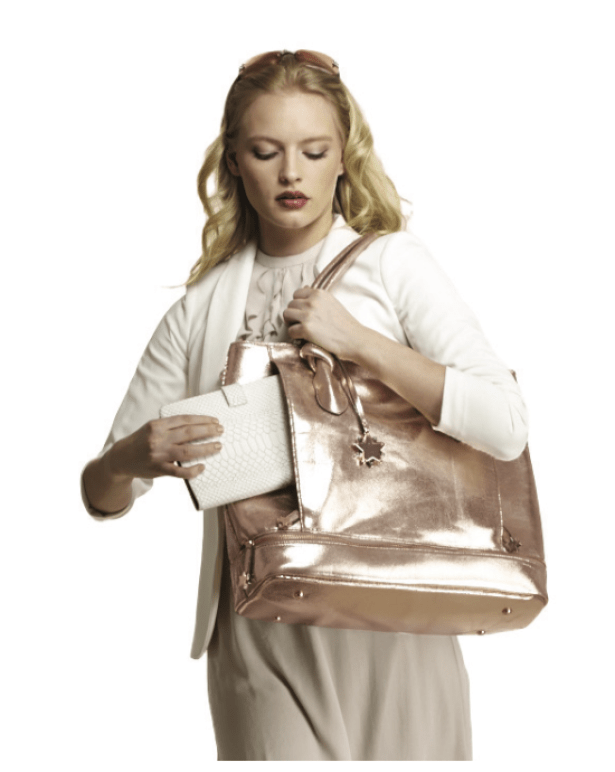 The Brilliant Body bag in Rose Gold. Available here. (Courtesy of Brilliant Bags)